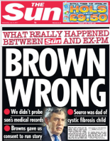 The Sun Front Page, 13th July 2011