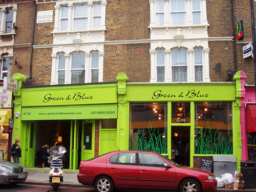 Green and Blue Wines, East Dulwich